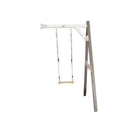 Norfolk Grey/White Painted Wooden Single Wall Mount Swing Set